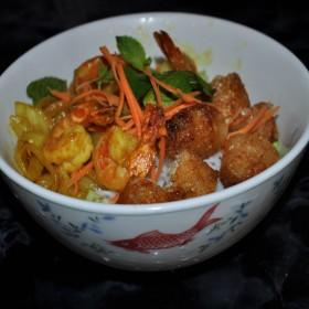 Bun Koung aux crevettes & nems crevettes