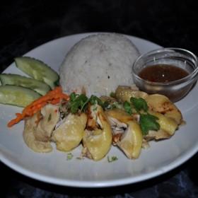 N°18 : Riz poulet Hainam avec la sauce de gingembre