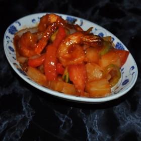48A : Crevettes sautées à la sauce aigre douce