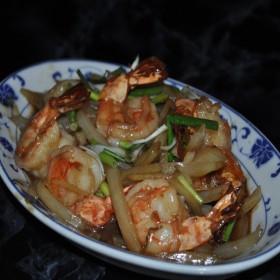 N°48 : Crevettes sautées au gingembre
