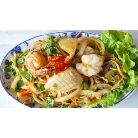 N°38S : Salade de fruits de mer avec ananas