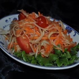 Salade de papaye verte sans crabe