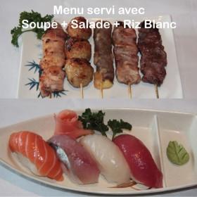 Menu E Sushi + Brochettes
