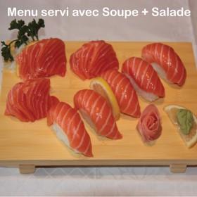Menu O Sushi Sashimi Saumon