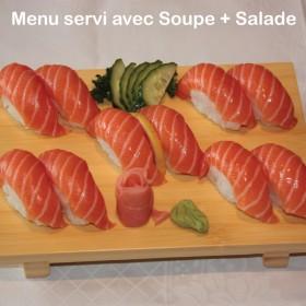 Menu Sushi Saumon