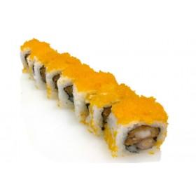 MD6. 8 pièces Crevette tempura, masago, oignon sauce chili