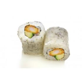 MC13. 6 pièces Massago noir, crevette tempura, avocat curry